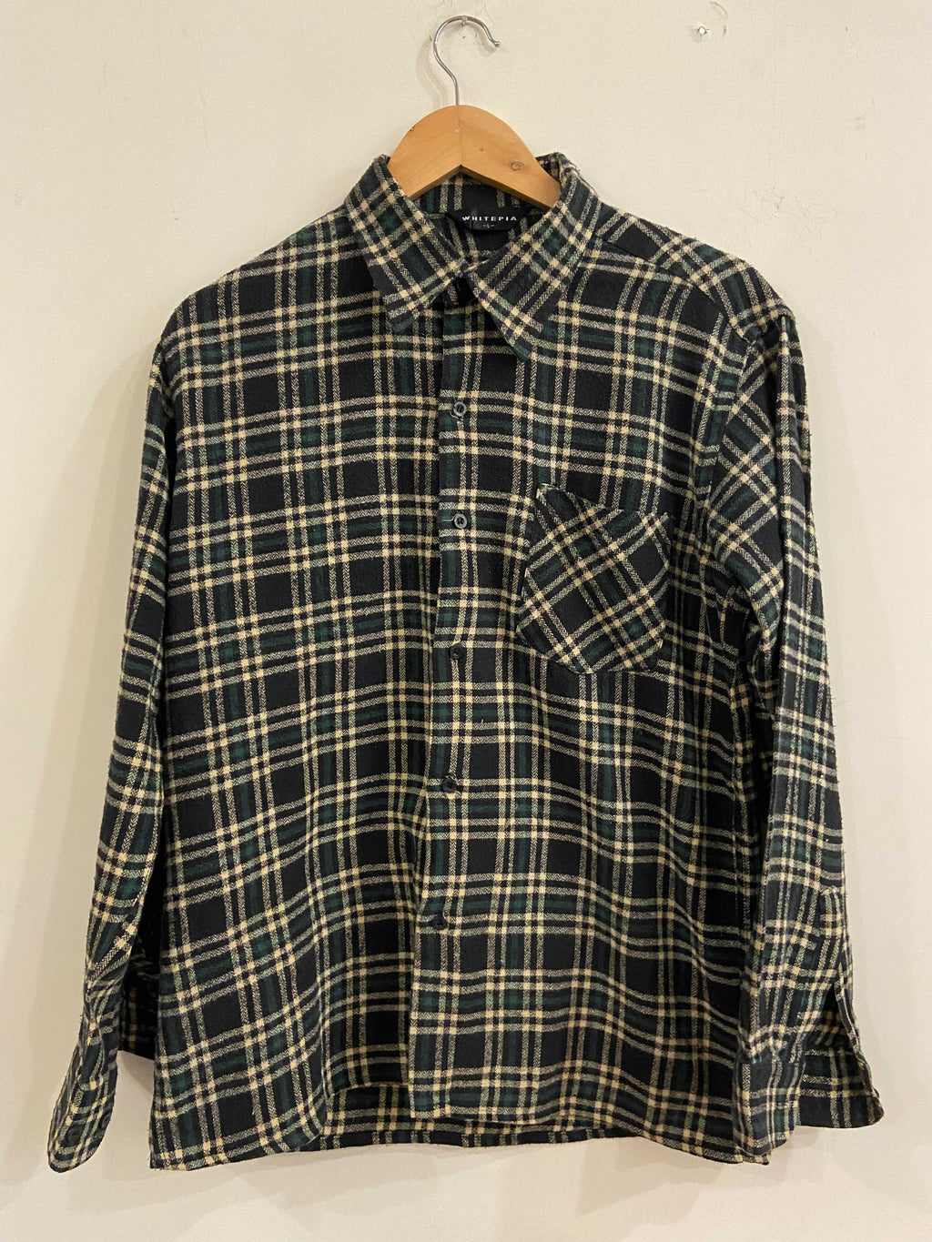 Whitepia Green and White Flannel Shirt
