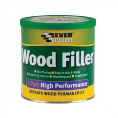 Everbuild 2 Part High Performance Wood Filler - 1.4Kg Tin
