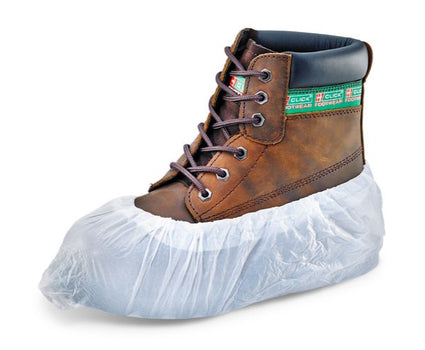 "Beeswift Click Disposable Overshoes 16"" - Pack 100"