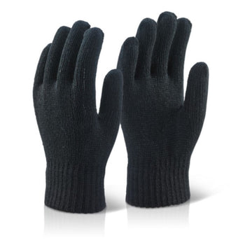 Acrylic Fibre Knit Winter Gloves - Pair