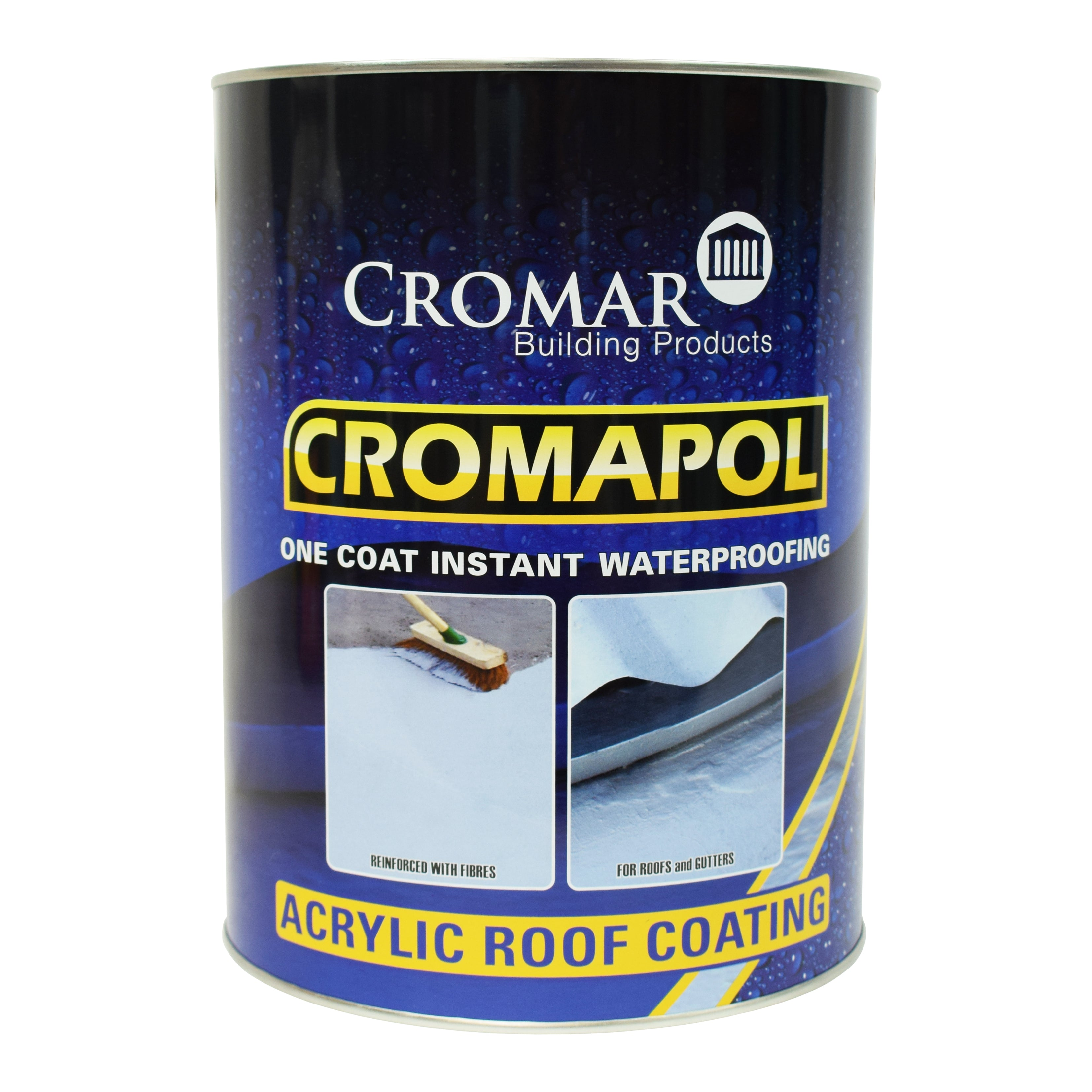 Cromapol - Acrylic Roof Coating - Grey / 5kg Tin