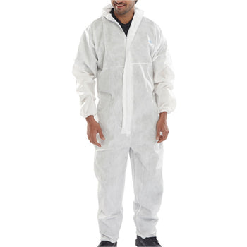 Beeswift COC20 Microporous Hooded Disposable Coverall