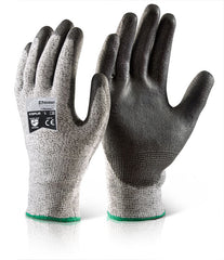 Beeswift Polyurethane Palm Coated Cut Resistant PPE Work Gloves