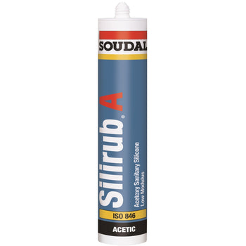 Soudal Silirub A General Purpose Anti-Mould Silicone, Available in 295ml Cartridge