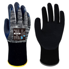 Wonder Grip 333 ROCK & STONE - Double Latex Palm Coated - Heavy Duty Gloves