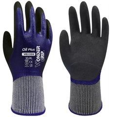 Wonder Grip 518W OIL PLUS - Double-Nitrile Palm Coated - Oil Resistant Gloves