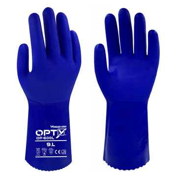 Wonder Grip OPTY 600L - Triple PVC Coating - Chemical Resistant Gloves