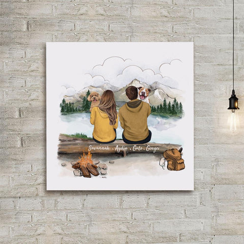 4. Personalized photo tile gifts for dog dad