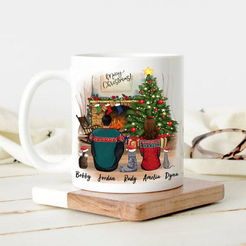 1. Personalized mug Christmas gift for cat dad