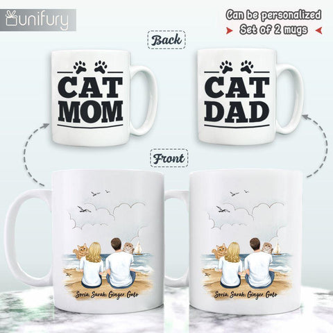 2. Personalized Couples Mug Gifts For Cat Lovers