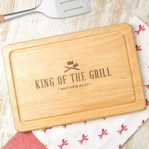 1. King of the Grill' Wooden BBQ Cutting Board