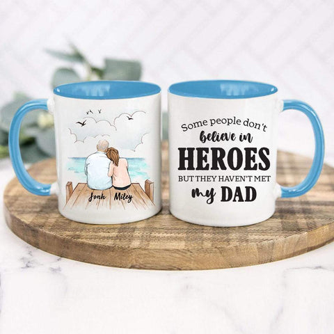 Father and Daughter Accent Mug