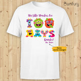 Personalized happy 100 days of school t-shirt tee ideas for students teachers - My little monsters are 100 days smarter