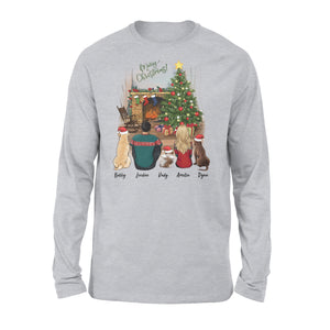 [ ORDER CUT OFF: DEC 5th ] Personalized custom dog & couple long sleeve Christmas gift for dog mom dad lover owner - 2409