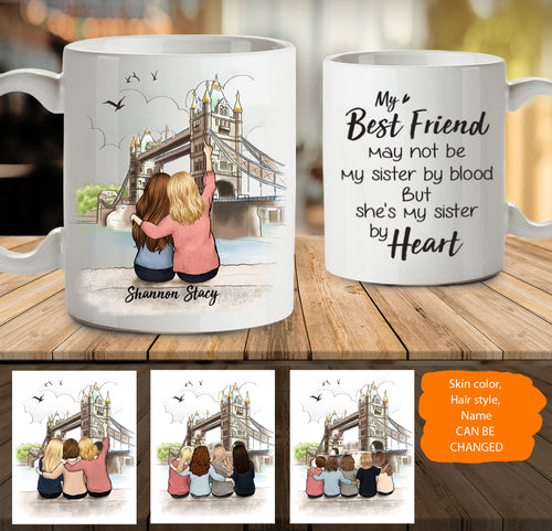 Personalized best friend birthday gifts Coffee Mug London - 2332