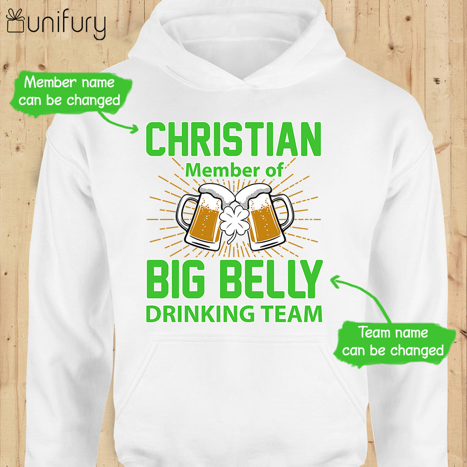 Personalized Funny St Patrick's day hoodie ideas for men women - Drinking Team