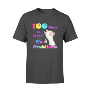 [MAN WOMAN] Happy 100 days of school premium t-shirt ideas for kid kindergarten students - 100 days of school no probllama