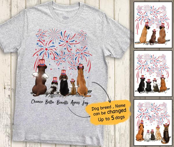 Personalized Dogs  Premium Tee For Holiday Party - 4Th July Day T-Shirt Gift - Independence Day 2343