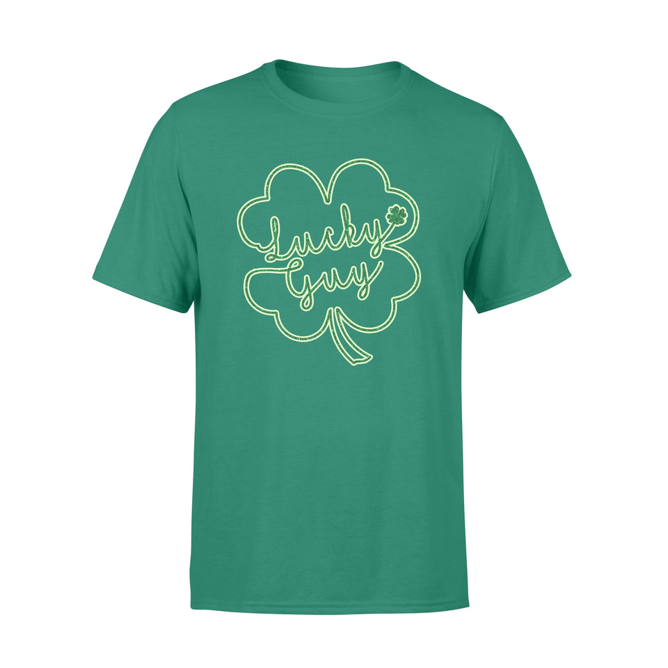 [ MAN ] Cute St Patrick's day t-shirt tee ideas for men - Lucky Guy