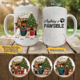 Personalized custom dog & couple coffee mug Christmas gift for dog mom dad lover owner - CUSTOM MESSAGE - 2409