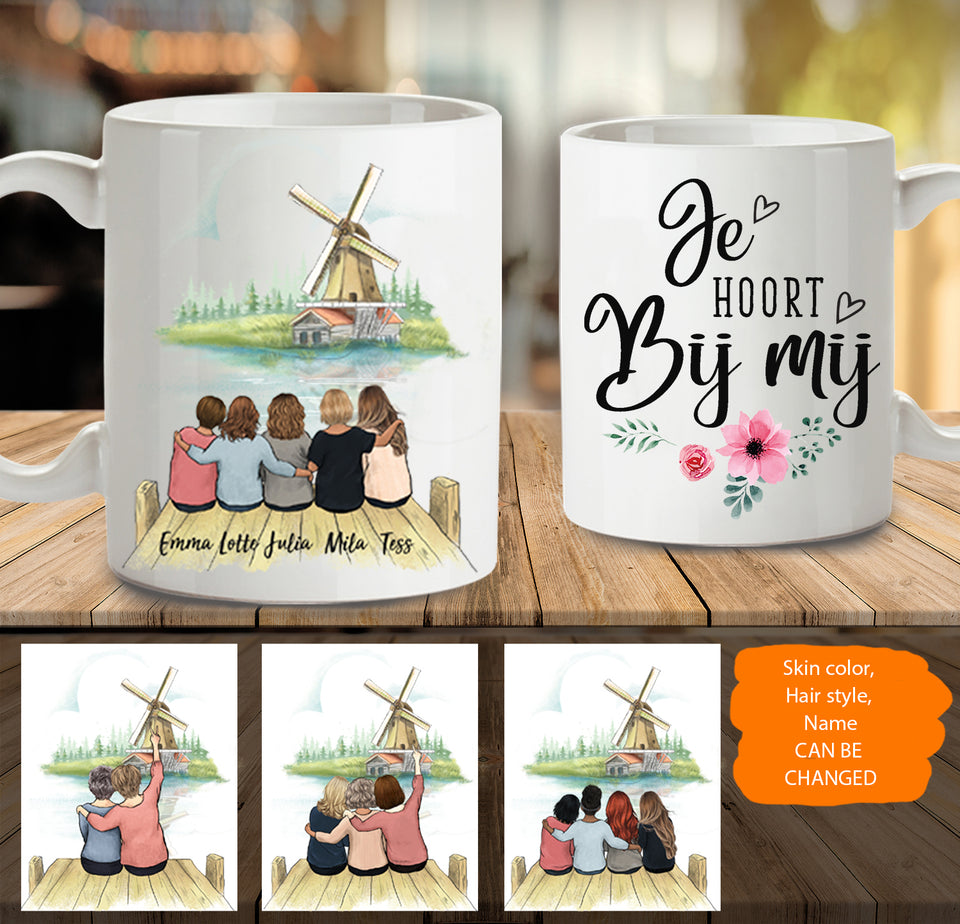 Personalized Best Friends Mug Windmill Netherland - 2318