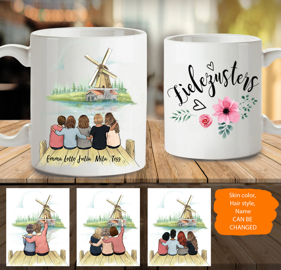 Personalized best friend gift ideas Coffee Mug Windmill Netherland - 2318