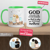 Personalized Mother's day accent mug gifts for mom - Wooden dock