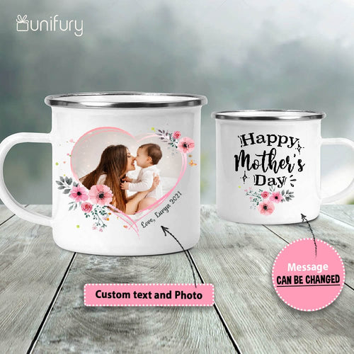 Personalized Mother's day campfire mug gifts for mom - Custom photo