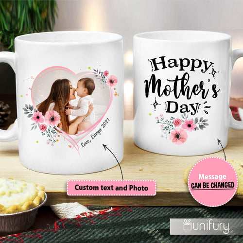 Personalized Mother's day coffee mug gifts for mom - Custom photo