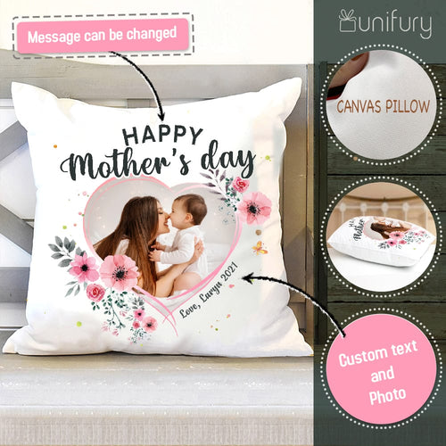 Personalized Mother's day pillow gifts for Mom - Custom photo