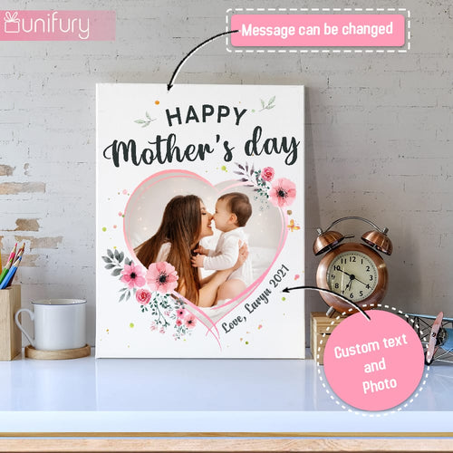 Personalized Mother's day canvas print wall art gifts for Mom - Custom photo