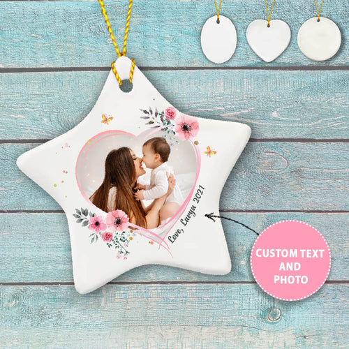 Personalized Mother's day ceramic ornament gifts for Mom - Custom photo