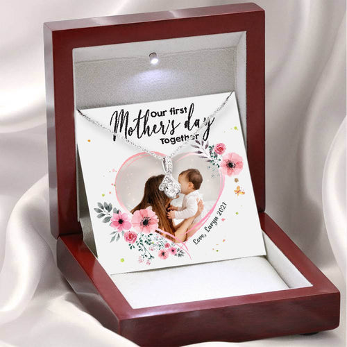 Personalized gifts for Mom alluring beauty necklace with message card - Custom photo