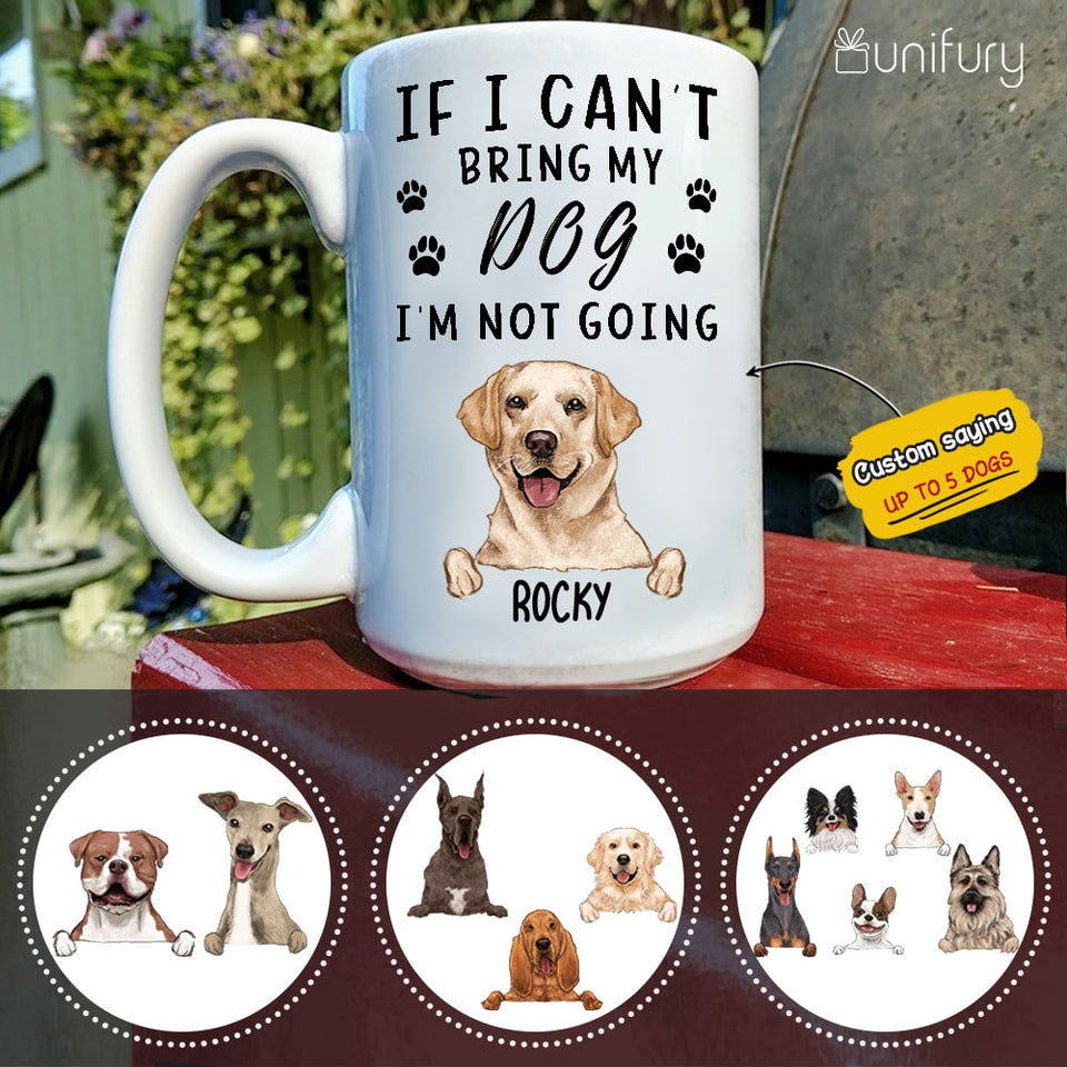 Personalized dog mug with custom funny sayings Every snack you make