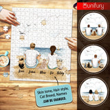 Personalized puzzle cat & couple gifts for cat lovers - Beach