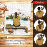 Personalized gifts for dog lovers puzzle - Dog Dad - Mountain Hiking