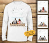 Personalized custom cat & couple long sleeve gift for cat mom dad lover owner - Wooden Dock - 2408