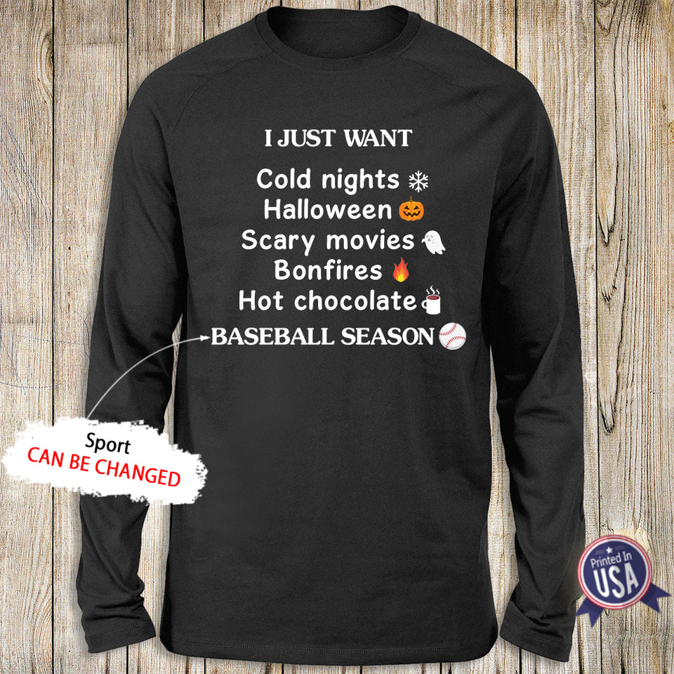 Personalized Sport Season Halloween Standard Long Sleeve - Perfect Gift For People Who love Fall - 2404
