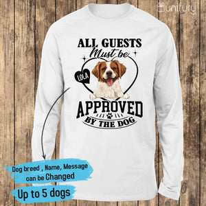 [FRONT SIDE] Personalized long sleeve gifts for dog lovers - Funny