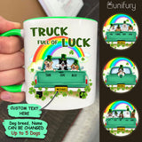 Personalized Accent Mug Gifts For Dog Lovers - St. Patrick's Day - Truck full of luck