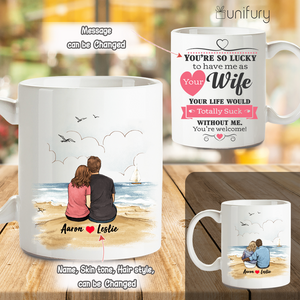 Personalized Coffee Mug Gifts For Him For Her Couple Beach