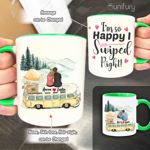 Personalized Accent Mug Gifts For Him For Her Couple Camping