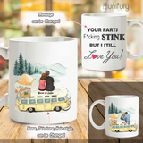 Personalized Coffee Mug Gifts For Him For Her Couple Camping