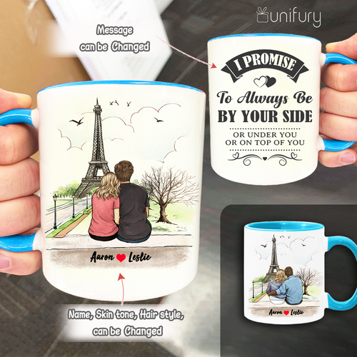 Personalized Accent Mug Gifts For Him For Her Couple Eiffel Tower