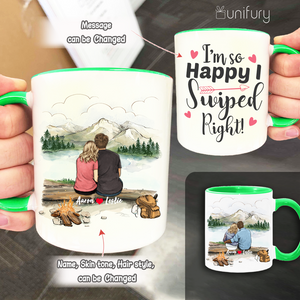 Personalized Accent Mug Gifts For Him For Her Couple Mountain - Hiking