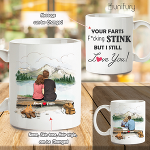 Personalized Coffee Mug Gifts For Him For Her Couple Mountain Hiking