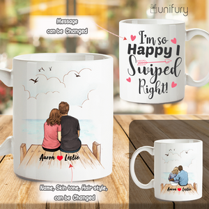 Personalized Coffee Mug Gifts For Him For Her Couple Wooden Dock