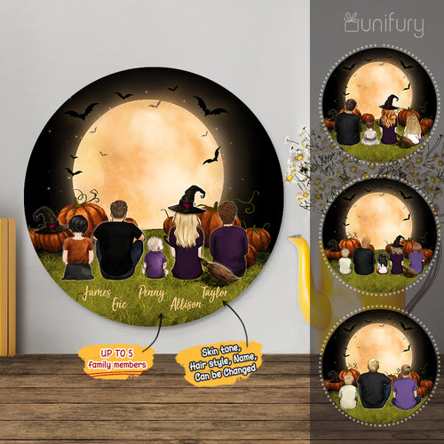 Personalized custom family members metal print with shapes home decor for the whole family - New home housewarming gift ideas - UP TO 5 PEOPLE - Halloween - 2431