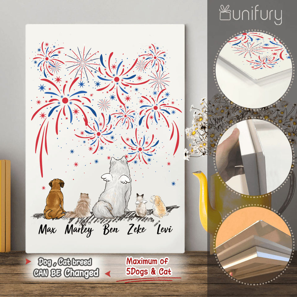 Personalized dog & cat Metal Print 4th Of July - 2283