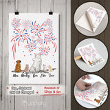 Personalized dog & cat Peel & Stick Poster 4th Of July gift for dog cat mom dad lover owner - 2283